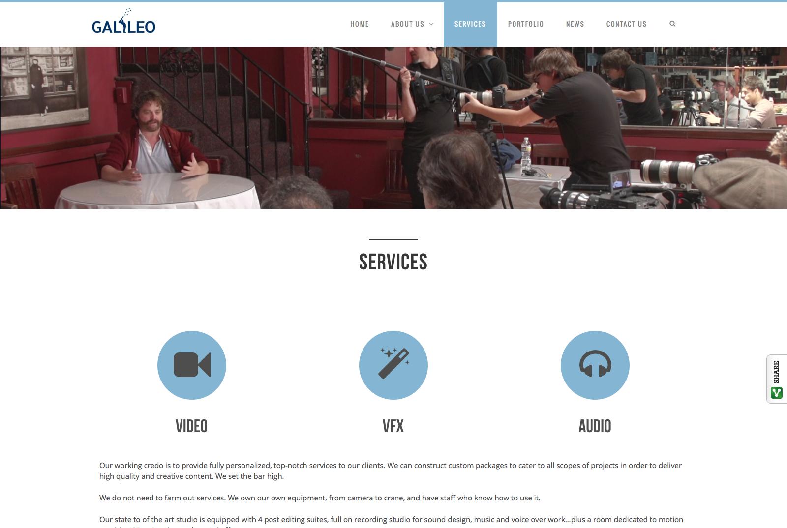 Galileo Media Arts Website – Saratoga Digital