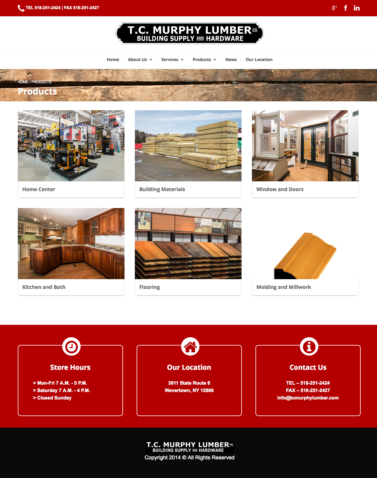 Tc Murphy Lumber Company You Are Here Home Portfolio Project